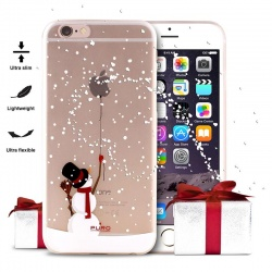 "PURO ULTRA SLIM ""0.3"" COVER CHRISTMAS SNOWMAN - ETUI IPHONE 6S / IPHONE 6"