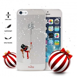 "PURO ULTRA SLIM ""0.3"" COVER CHRISTMAS SNOWMAN - ETUI IPHONE SE / IPHONE 5S / IPHONE 5"