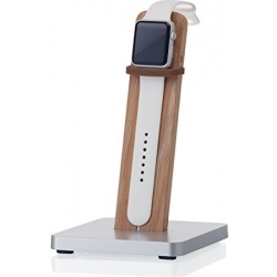 Watch Stand, Aluminium,-wood, oak