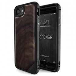 X-DORIA DEFENSE LUX WOOD - ETUI IPHONE 7 Z ANODYZOWANEGO ALUMINIUM I DREWNA (WALNUT)