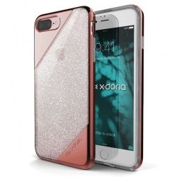 X-DORIA REVEL LUX - ETUI IPHONE 7 PLUS (ROSE GOLD GRADIENT GLITTER)