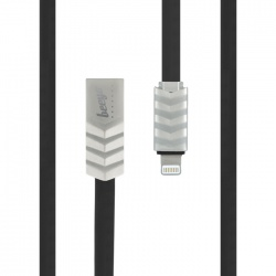 Wave USB Cable for iPhone czarny