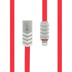 Wave USB Cable for iPhone czerwony