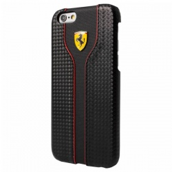 FERRARI RACING RED TRIM - ETUI IPHONE SE / IPHONE 5S / IPHONE 5 (BLACK CARBON)