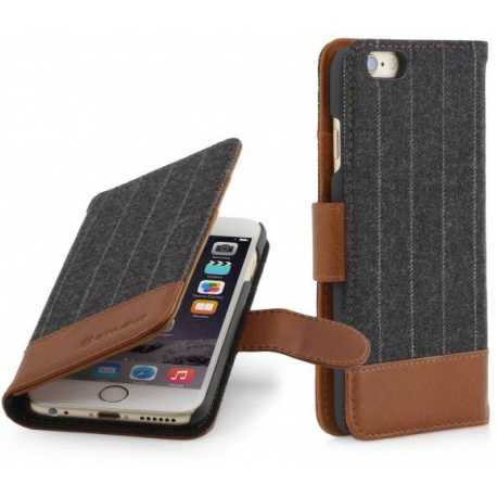 "STILGUT - ETUI APPLE IPHONE 6 / 6S 4.7"" - FASHION 08 TALIS, BROWN"