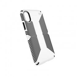 SPECK PRESIDIO GRIP - ETUI IPHONE X (WHITE/BLACK)