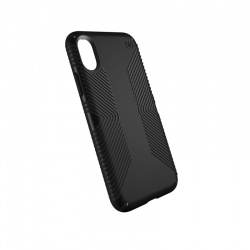 SPECK PRESIDIO GRIP - ETUI IPHONE X (BLACK/BLACK)