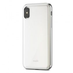 MOSHI IGLAZE - ETUI IPHONE X (PEARL WHITE)