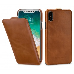 StilGut - Etui Apple iPhone X - UltraSlim, brown