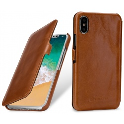 StilGut - Etui Apple iPhone X - UltraSlim Book, brown