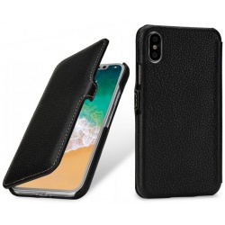 StilGut - Etui Apple iPhone X - UltraSlim Book, black