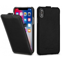 StilGut - Etui Apple iPhone X - UltraSlim, black nappa