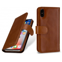 StilGut - Etui Apple iPhone X - Talis, brown