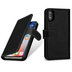 StilGut - Etui Apple iPhone X - Talis, black nappa