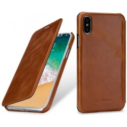 StilGut - Etui Apple iPhone X - Book, brown