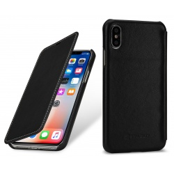 StilGut - Etui Apple iPhone X - Book, black nappa