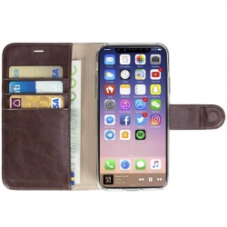 KRUSELL EKERÖ FOLIOWALLET 2IN1 - ETUI 2W1 IPHONE X Z KIESZENIAMI NA KARTY + STAND UP (COFFE)