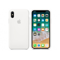 Apple silikonowe etui do iPhone X - Białe