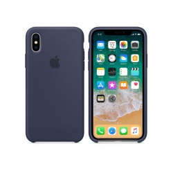 Apple silikonowe etui do iPhone X - Nocny Błękit