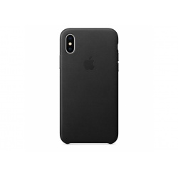 Apple skórzane etui do iPhone X - Czarne