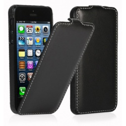 StilGut - Etui Apple iPhone 5 / 5S / SE - UltraSlim, black nappa