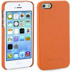 StilGut - Etui Apple iPhone 5 / 5S / SE - Cover, mandarin carbo