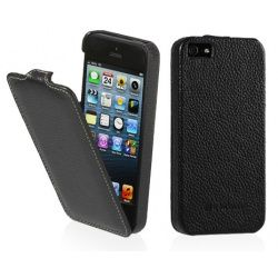 StilGut - Etui Apple iPhone 5 / 5S / SE - UltraSlim, black carbo