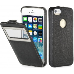 StilGut - Etui Apple iPhone 5 / 5S / SE - UltraSlimO, black carbo
