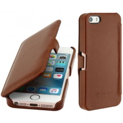 StilGut - Etui Apple iPhone SE/5/5s - UltraSlim Book, brown