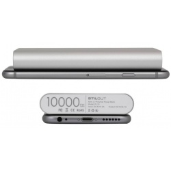 StilGut - PowerBank UltraSlim - 10000 mAh, silver