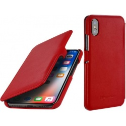 StilGut - Etui Apple iPhone X - UltraSlim Book, red nappa