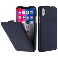 StilGut - Etui Apple iPhone X - UltraSlim, darkblue nappa