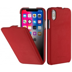 StilGut - Etui Apple iPhone X - UltraSlim, red nappa