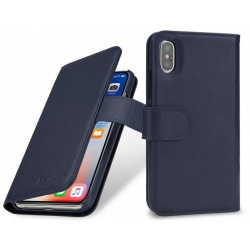 StilGut - Etui Apple iPhone X - Talis, darkblue nappa
