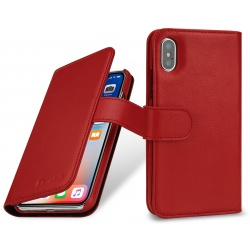 StilGut - Etui Apple iPhone X - Talis, red nappa