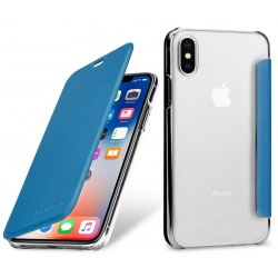 StilGut - Etui Apple iPhone X - Book, blue NFC