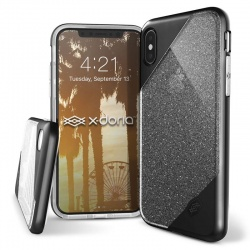 X-DORIA REVEL LUX - ETUI IPHONE X (BLACK GLITTER)