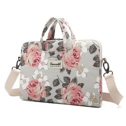 CANVASLIFE BRIEFCASE MACBOOK AIR/PRO 13 WHITE ROSE