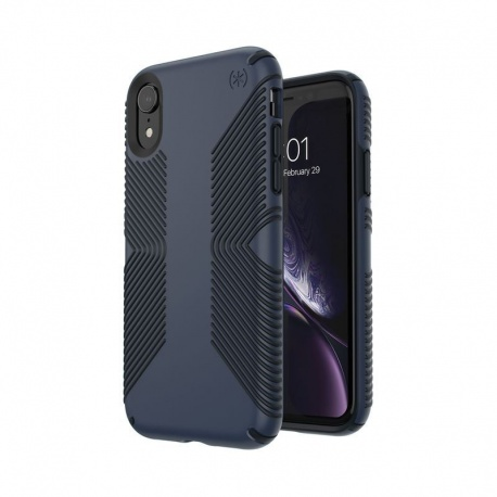SPECK PRESIDIO GRIP - ETUI IPHONE XR (ECLIPSE BLUE/CARBON BLACK)