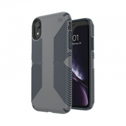 SPECK PRESIDIO GRIP - ETUI IPHONE XR (GRAPHITE GREY/CHARCOAL GREY)