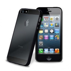 PURO Clear Cover - Etui iPhone 5/5S (czarny)