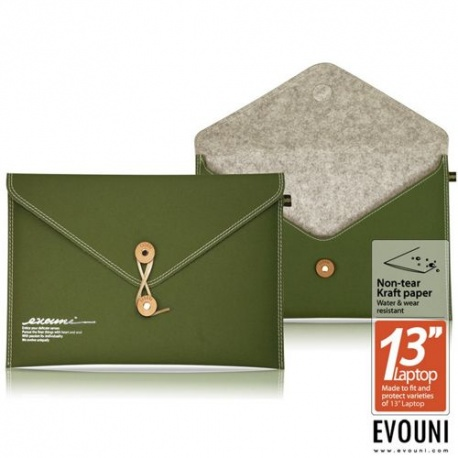 ORYGINALNE ETUI EVOUNI NON- TEAR PAPER ENVELOPE - OLIWKOWE - MACBOOK AIR 13''