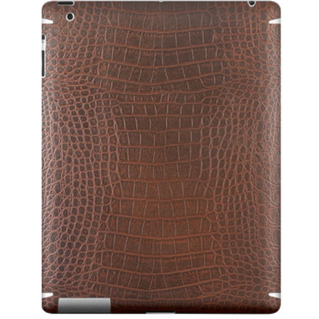 ZAGG Leatherskin dla iPada 2/3/4, brown alligator finish