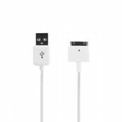 Xqisit Charge & sync USB for iPhone/iPod white