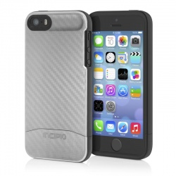 Incipio EDGE CF Case - Etui iPhone 5/5S (srebrny)