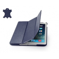 STILGUT Etui Apple iPad Air Couverture, niebieski, skóra karbowana