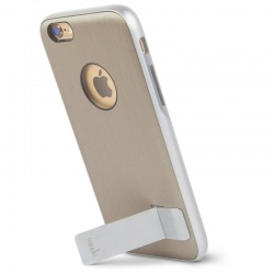 Moshi iGlaze Kameleon - Etui hardshell z podstawką iPhone 6 (Brushed Titanium)