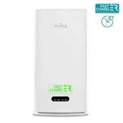 PURO Universal External Fast Charger Battery - Uniwersalny Power Bank 6000mAh 2.1A + przyssawka (biały)